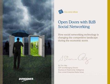 Open Doors with B2B Social Networking – Dow Jones - 3FORWARD