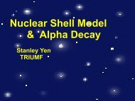 Nuclear Shell Model & Alpha Decay - Triumf
