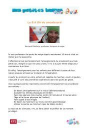 En savoir plus: Le B.A. Ba du snowboard Bertrand Didisheim ... - rts.ch