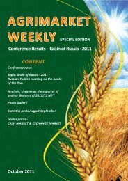 September, 2011 Agrimarket Weekly Special edition Conference ...
