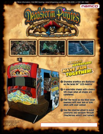 Deadstorm Pirates SDX Brochure - BMI Gaming