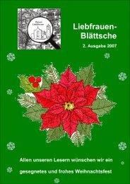 Umschlag Weihnachten 07 - Katholische Pfarrei Liebfrauen Darmstadt