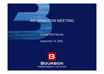 INFORMATION MEETING - Bourbon