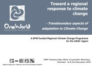 SADC region - Danish Water Forum
