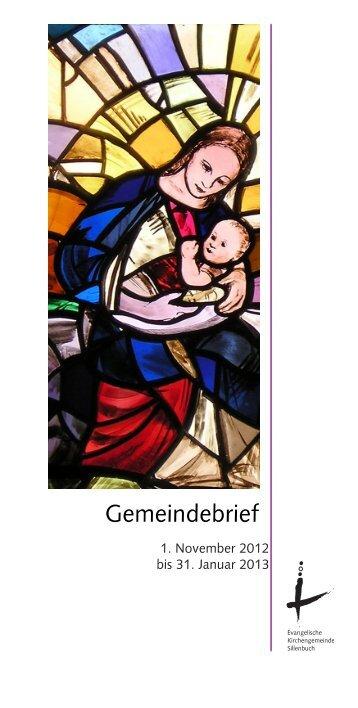 Gemeindebrief - Evang. Kirchengemeinde Sillenbuch