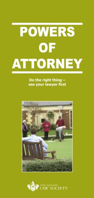 POWERS OF ATTORNEY - West Coast District Health Board