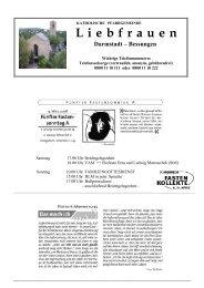 L iebfrauen Darmstadt – Bessungen - Katholische Pfarrei Liebfrauen ...