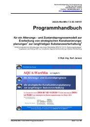 AQUA-WertMin 7.0.00-130601 Programmhandbuch - Ing. Karl Jansen