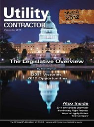 View Full December PDF Issue - Utility Contractor Online