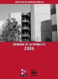 Memoria de actividades 2006 - Instituto de Derecho Público