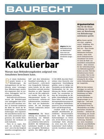 Kalkulierbar - KWR