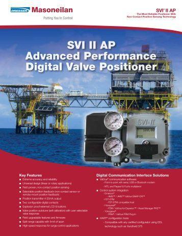SVI II AP Advanced Performance Digital Valve Positioner