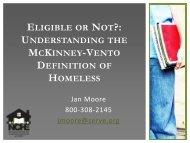 eligible or not? - Education for Homeless Children