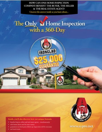 The Onl Q'! Home Inspection - A-Pro Home Inspection Service