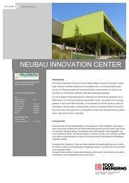 NEUBAU INNOVATION CENTER - IE Engineering Group AG
