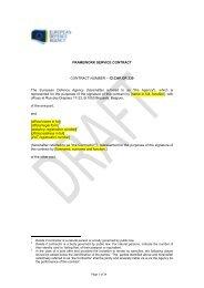 12.CAP.OP.330 Draft Contract - European Defence Agency - Europa