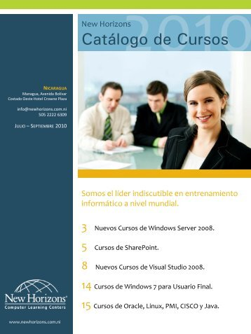 Catálogo de Cursos - New Horizons Computer Learning Centers