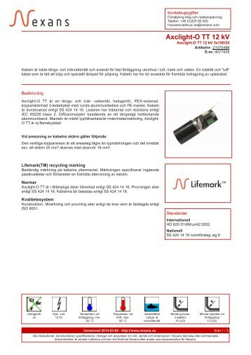 Axclight-O TT 12 kV - Nexans