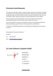 Erfreuliche Cebit Resonanz Zu Linear Software & Systeme GmbH