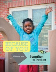 Annual Report 2012 - Families in Transition