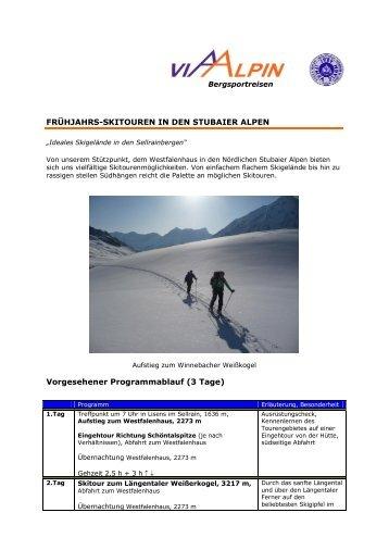 FRÜHJAHRS-SKITOUREN IN DEN STUBAIER ... - Via-Alpin.de