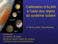 Calibration d'ALMA à l'aide des objets du système solaire - Graal
