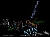 Clinical engagement (PDF, 276Kb) - NHS Connecting for Health