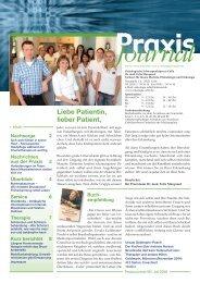 Praxis Journal - Onkologische Schwerpunktpraxis Celle