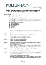 Læs referatet fra generalforsamlingen 2010 - Kulturhavn