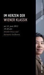 im herzen der wiener klAssik - Württembergisches Kammerorchester ...