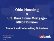 US Bank Underwriting - Ohio Housing Finance Agency