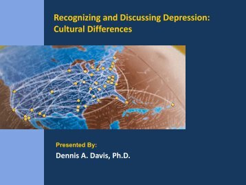 Recognizing and Discussing Depression: Cultural Differences