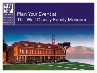 Plan Your Event at The Walt Disney Family Museum