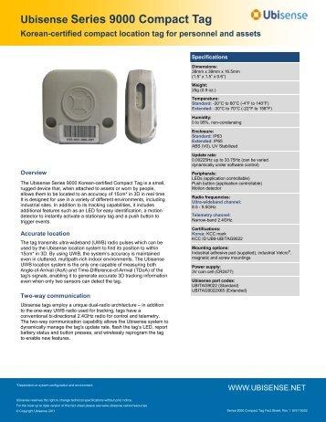 Ubisense Series 9000 Compact Tag