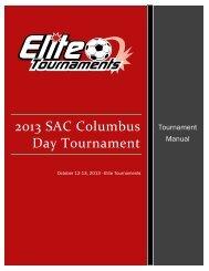 2013 SAC Columbus Day Tournament - Elite Tournaments
