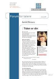 Astrid Boisen - Tiden er din - Talerforum