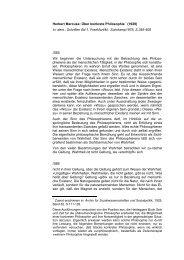 Herbert Marcuse: Über konkrete Philosophie - Hans-Joachim Lenger