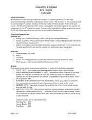 Accounting I Syllabus - Bishop Ward High School