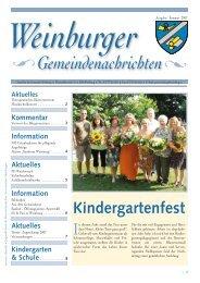 Weinburger Gemeindenachrichten - Gemeinde Weinburg