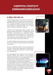 PB-GÁZ terméklap (pdf, 290 kB) - Mol
