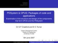 PDSystem & OPUS: Packages of code and applications ...