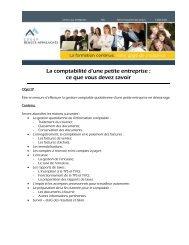 Formation : La comptabilité d'une petite entreprise