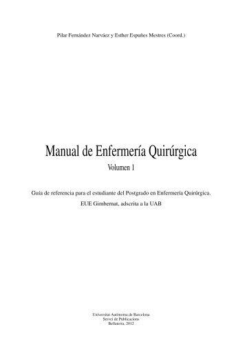 Manual de Enfermería Quirúrgica - Publicacions de la Universitat ...