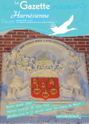 gazette janvier 2010-corr:Mise en page 1 - Ville de Harnes