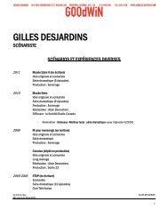GILLES DESJARDINS - Agence Goodwin