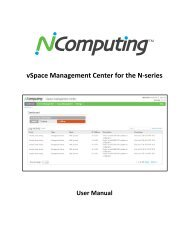 vSpace Management Center for the N-series