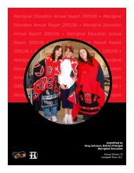 2005-2006 SD72 Aboriginal Education Annual Report