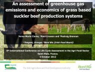 An assessment of greenhouse gas emissions and economics ... - Inra