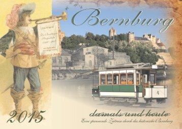 """Kalender Bernburg 2015 """"damals und heute"""""""