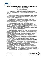 Alpha Calcion Plus filtra iekārtas uzstādīšanas un ... - Sanistal